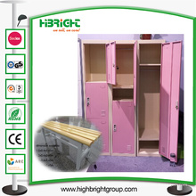 Стальной шкаф хранения Локер для изменяя комнаты