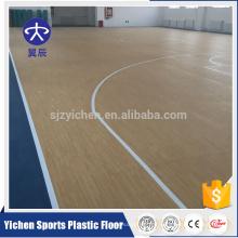 Yichen professioneller Hersteller PVC Sport Kunststoffboden Anti-Rutsch-Backetball Boden