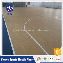 Yichen professional producer PVC sports plastic flooring antislip backetball floor