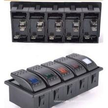 2-8way Marine 12V LED Rocker Switches for Switch Panels