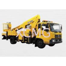 XCMG Rotary Platform Boom Lift Truck , Three Telescopic Arm