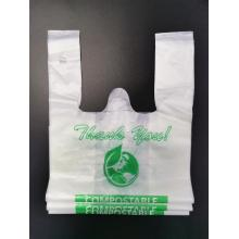 PLA Bolsas de compras compostables 100% biodegradables