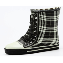 Converse Style Grid Rubber Rain Boots For Women Or Girls