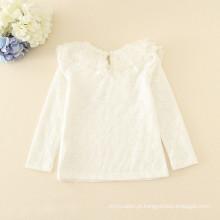 Boa qualidade crianças inverno roupas de algodão branco camisolas meninas undershirts atacado garantia de comércio a retalho