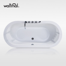 Oval Acrylic Drop-in Bathtub without Drain and Faucet