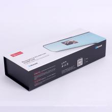 Черный магнитный бумажная упаковывая коробка подарка для электроники