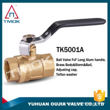TMOK WOG600 PN40 high quality female bronze ball valve with moderate price aluminum butterfly handle butterfly ball valve