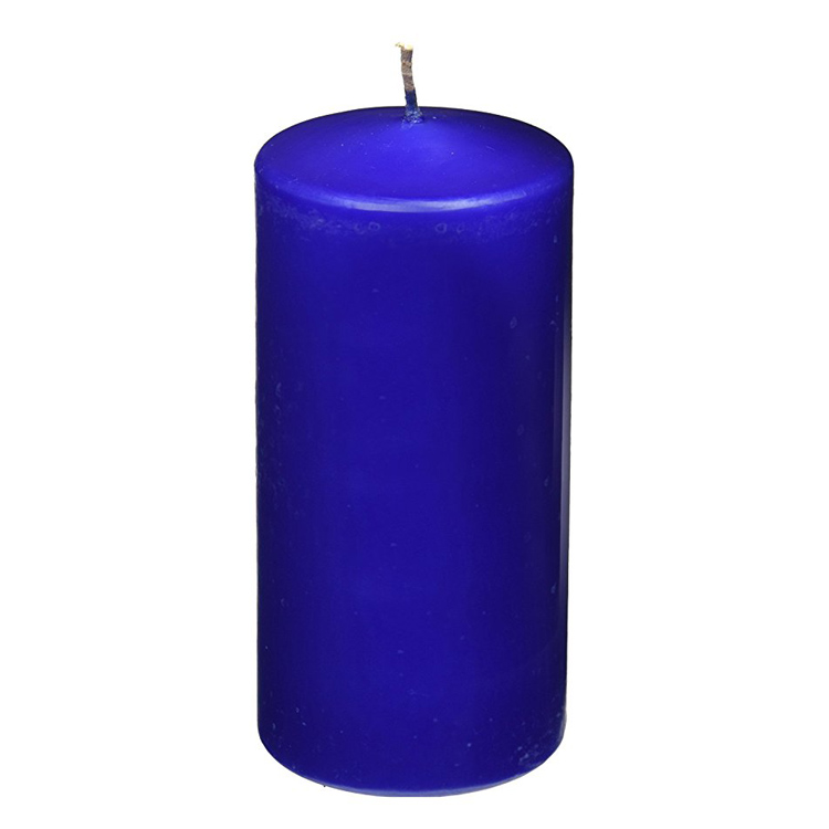 Blue Pillar Candle 7