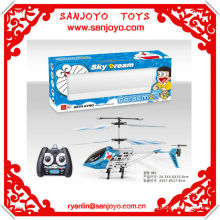 HTX084-3 Christmas hotsale gift!! Doraemon canopy rc helicopter for sale 3ch