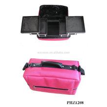 ventes chaudes & trousse de maquillage imperméable à l'eau avec 4 plateaux amovibles à l'intérieur de fabricant