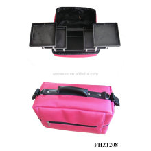 hot sales&waterproof makeup bag with 4 removable trays inside manufacturer