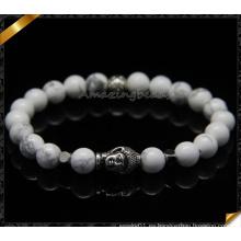 Las pulseras blancas de la manera de los granos de la turquesa venden al por mayor (CB089)