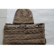 2013 fashion winter cashmere scarfs & hats set