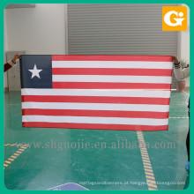 Logotipo de alta qualidade impressão bandeira do estado vermelho branco e azul