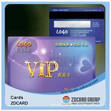 Cartão transparente de visita plástico feito sob encomenda do PVC do Inkjet do cartão de visita