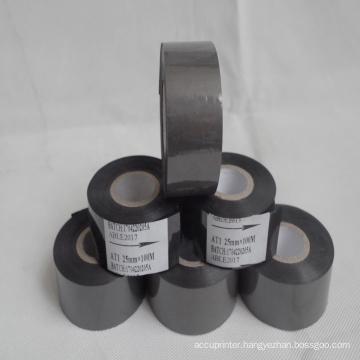 Hot print foil25mm*100m black coding foil for ribbon coding machine HP-241B