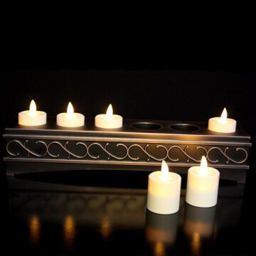 rechargeable moving wick luminara votive candles with remote