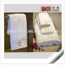 100% Cotton Customized Logo Available Luxury 5 Star Hotel Towel Set