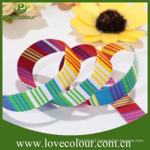 Factory direct wholesale customized polyester grosgrain striped ribbon