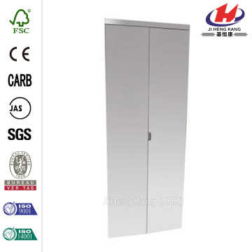 Polished Edge Mirror Solid Core Bi-fold Door