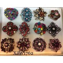 Multi anillo de cristal de lujo de colores (xjw1762)