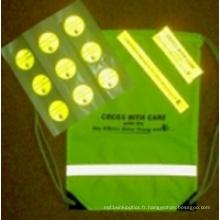 Paquet de sécurité réfléchissant pour enfants Soyez prudent