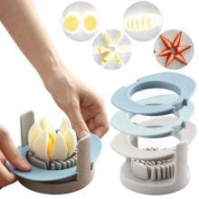 Multifunctional 3-in-1 boiled egg slicer egg chopper