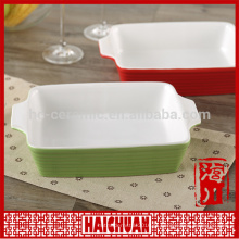 Moda design cerâmico rodada azul assar utensílios com tampa de silicone Lunch box locker bowl tigela de macarrão japonês
