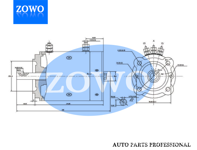 Phjd007 Dc Motor 12v 1 2kw