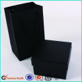 Boîtes de luxe d'emballage de cravate noire carrée