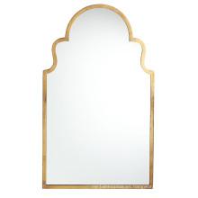Espejo enmarcado oro caliente de la pared del metal de las ventas calientes para la decoración casera de la moda