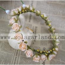 Imitation Rose Flower Garland Wedding Floral Headband
