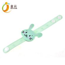 wholesale colorful lovely soft pvc custom led light up bracelet