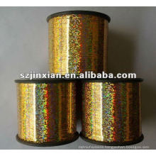 colorful glittering gold metallic thread