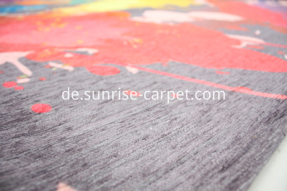Polyester Printting Carpet Abstract Design