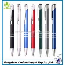 Stift Fabrik direkte heißen Verkauf Werbe Metall Kugelschreiber mit Ringen