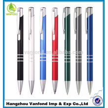 Ручка фабрика прямой горячей продажи рекламных металлический шар ручка с кольцами