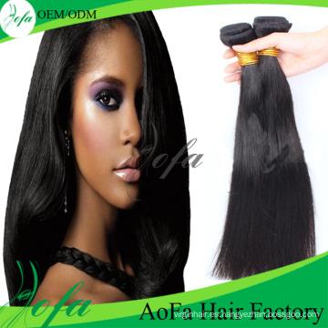 Pelo humano recto sin procesar cabello humano indio remy