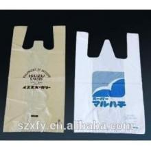 Personalizado PE impresso t-shirt PlasticBag para supermercado