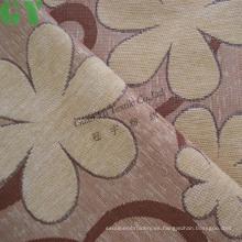 Tapizado de chenille del telar jacquar del hilo teñido tela de materia textil casera