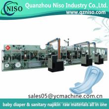 Seventh Generation Stay Material libre de algodón y tipo regular Sanitary Women Pads que hace la máquina