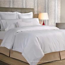 Sistema caliente de la cubierta de la cama de la raya del hilado de algodón del hospital de las ventas 2016 / cubierta de edredón