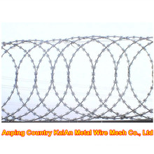 Razor Wire Fence / Barbed Razor Wire / Galvanized Razor Wire / PVC coated razor wire / barbed wire ---- 30 years factory