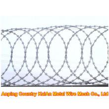 Razor Wire Fence / Barbeado Razor Wire / galvanizado Razor Wire / PVC revestido fio de barbear / arame farpado ---- 30 anos de fábrica