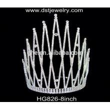 Coronas de la cinta coronas de la boda y velos tiara boda tiara de zafiro diseño nupcial al por mayor