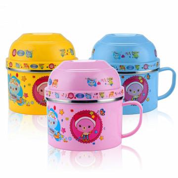 Caixa de almoço de aço inoxidável das crianças do recipiente de armazenamento 304 do copo do aquecedor de alimento