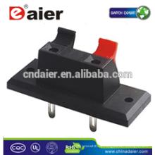 Daier WP2-2 2 Pin Rot & Schwarz Clip Federklemme Kabelklemme; Anschlüsse