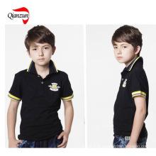 Criança puro algodão polo t shirt (zj-6906)