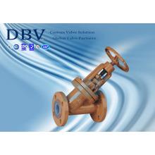 Válvula Globe Sentada em Flúor Wcb com Aprovação Ce