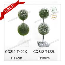 H4-8 pulgadas Venta al por mayor interior de plástico pequeños Bonsai decoración del hogar planta artificial